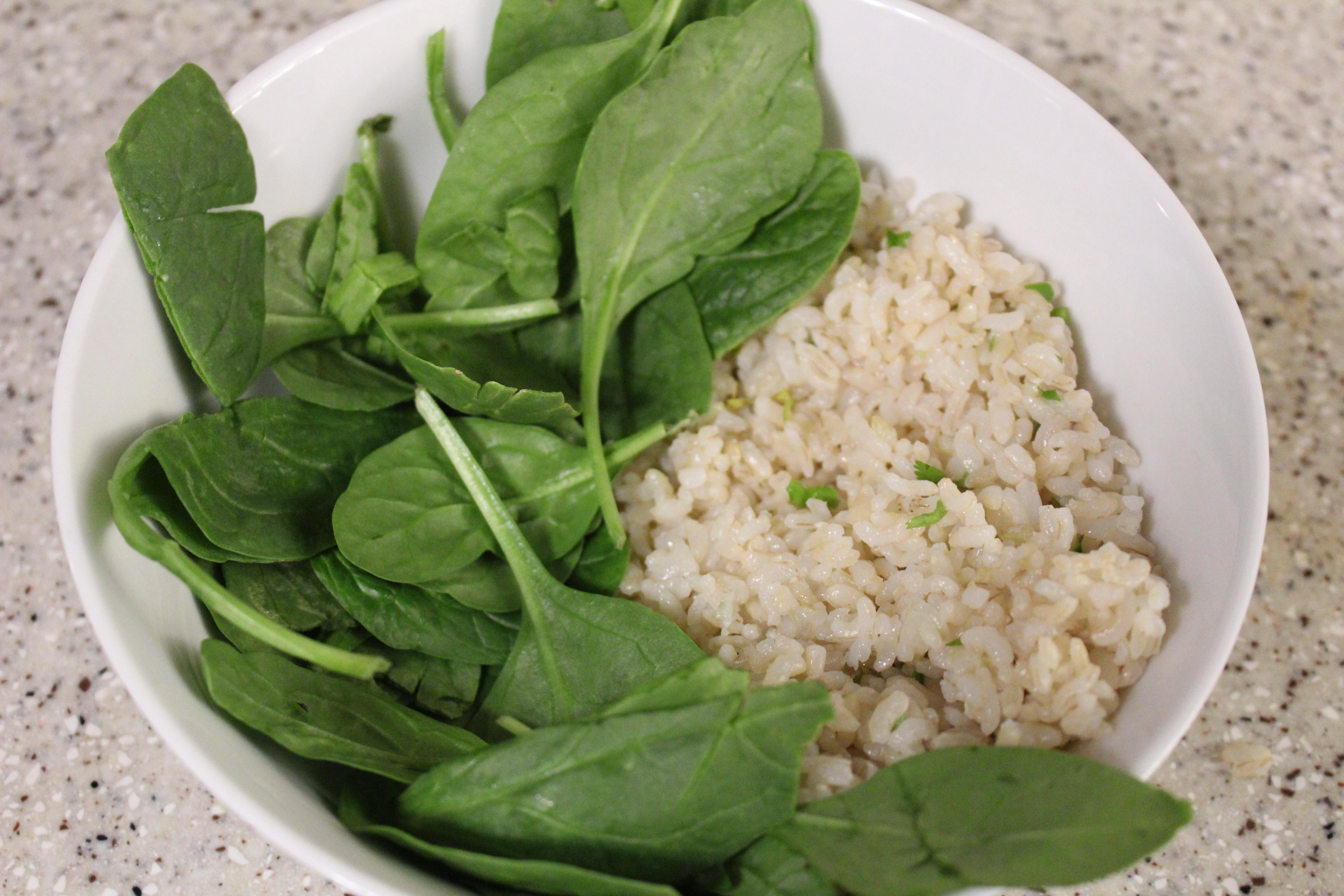 Angle Shot Spinach + Rice - Morrocan Bowl 1