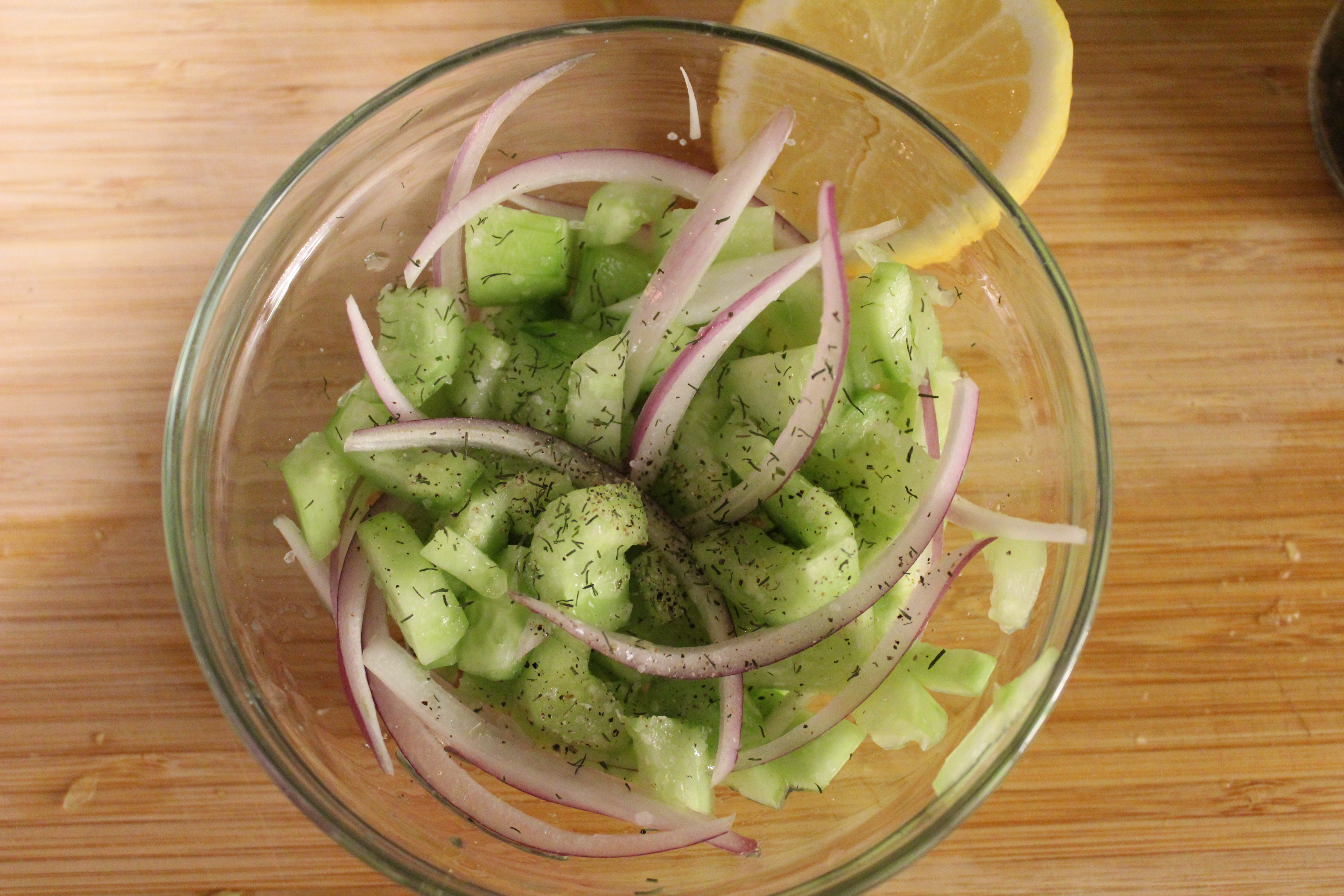 Finished Cucumber Salad - Morrocan Bowls